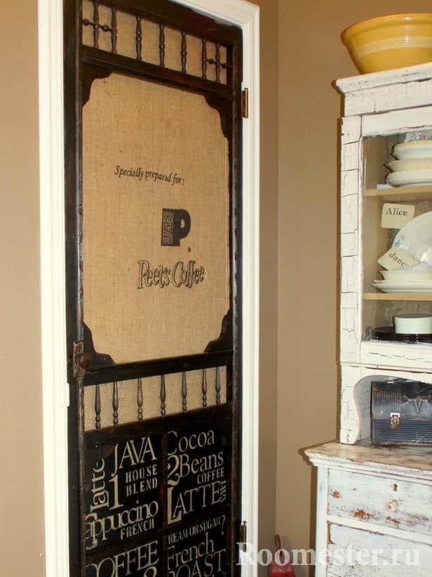 Декор старой двери своими руками - 12 красивых идей, как обновить, реставрация и украшение (фото)
