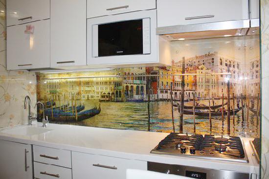 фартук для кухни из пластика фото