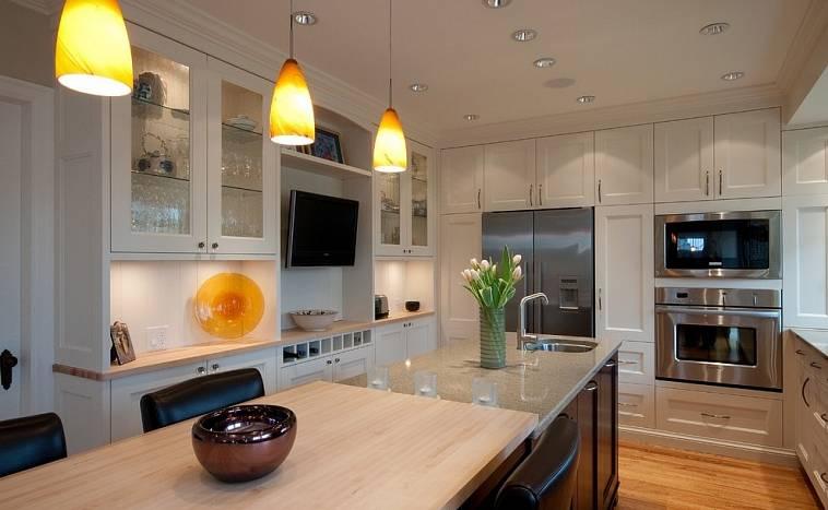 Телевизор на кухне: 135+ (фото) дизайн с маленьким и большим
