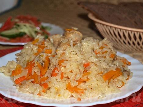 Туркменский плов на костре - рецепт приготовления в казане