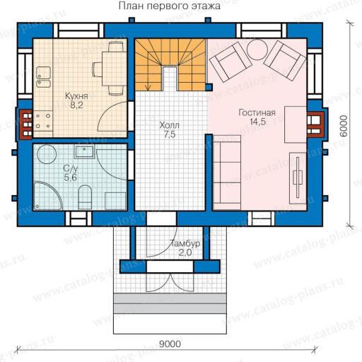 Каркасный дом 6х4: проекты, планировки двухэтажные, стоимость строительства под ключ в москве