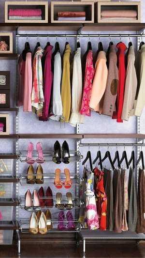 организация шкафа для одежды