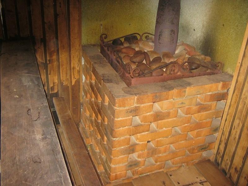 Защита стен в бане от печки