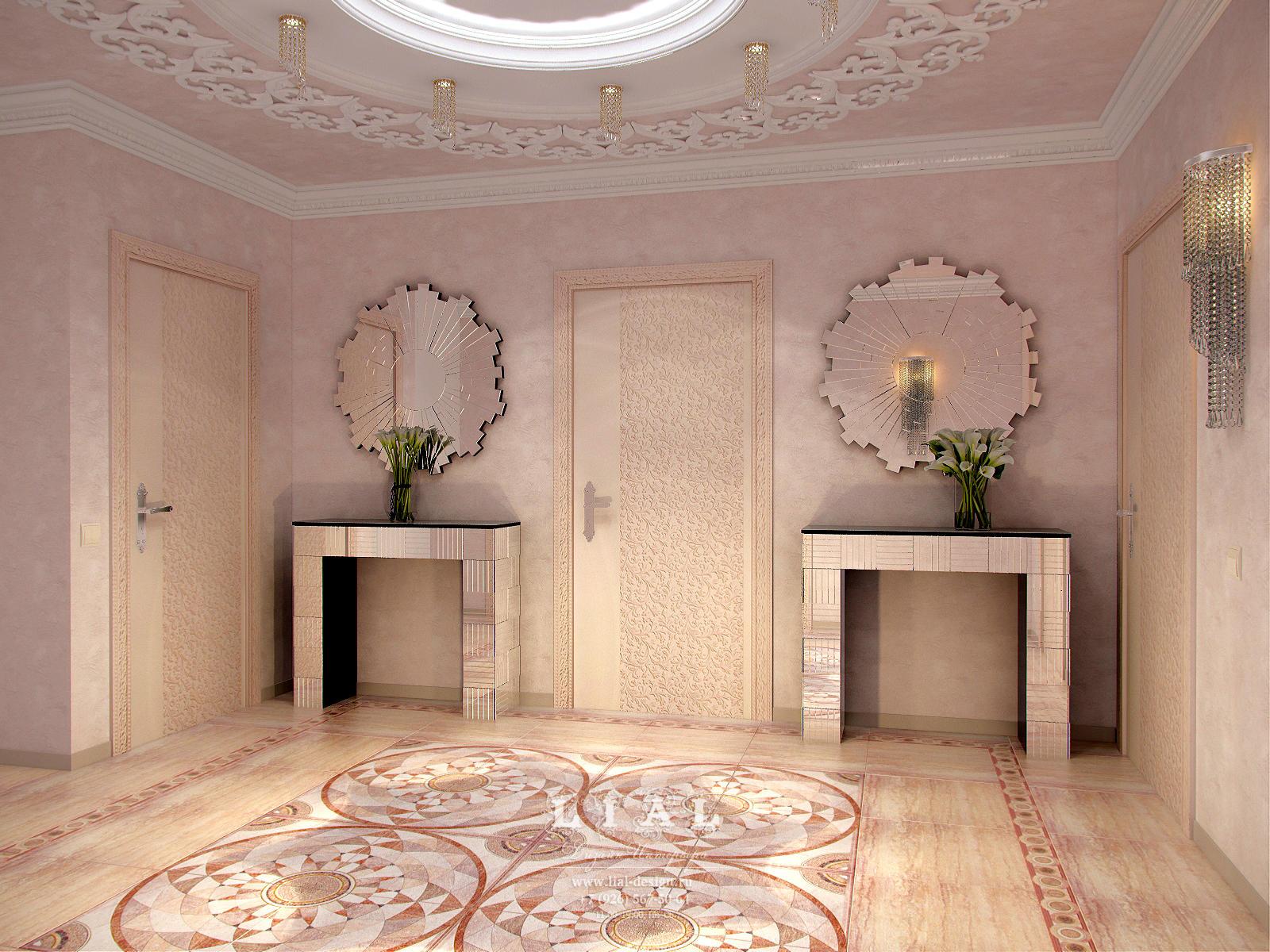 Дизайн холла в частном доме с лестницей +75 фото