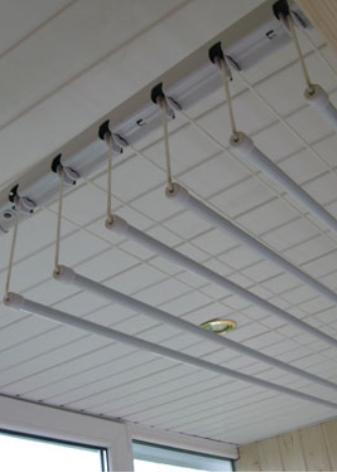 Потолочная сушилка на балкон для белья (80 фото): балконная и электрическая модели от лиана и gimi