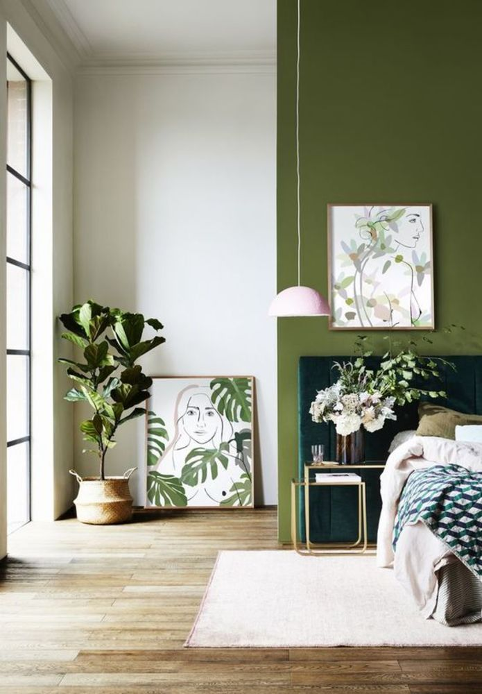 Идеальная гостиная: как оливковый сочетается в интерьере