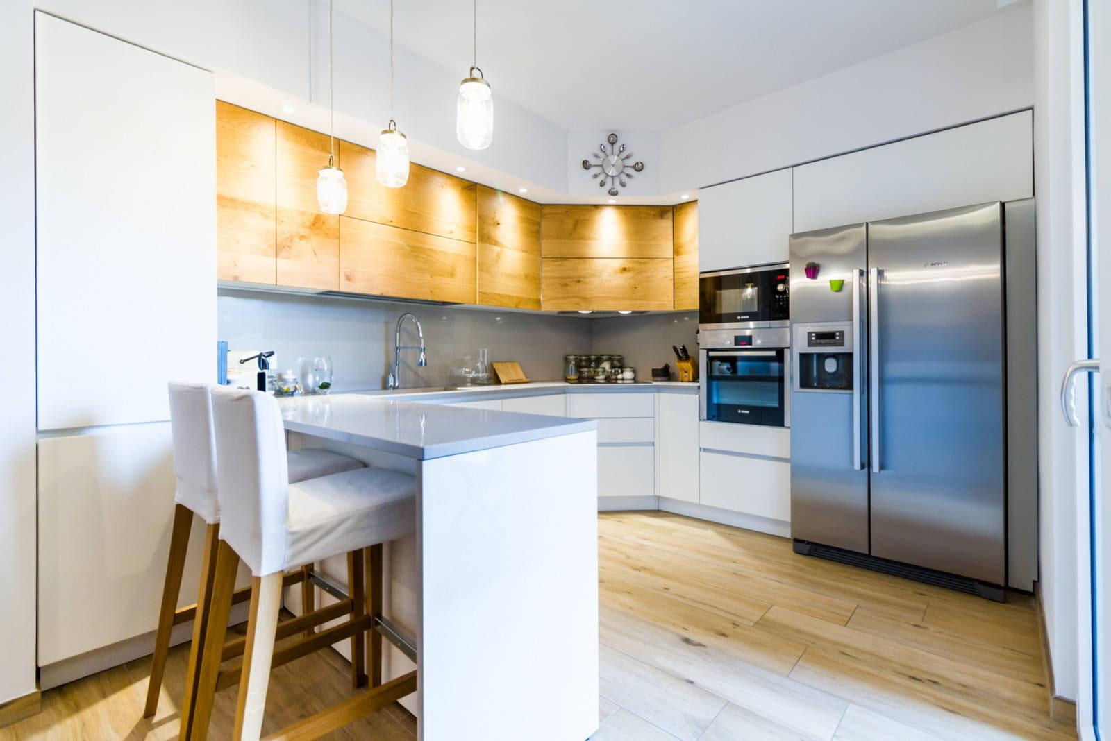Планировка кухни - угловая, прямая и другие с фото примерами