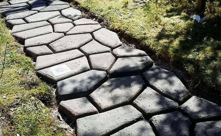 Садовая дорожка из бетона: инструкция, монтаж, видео
