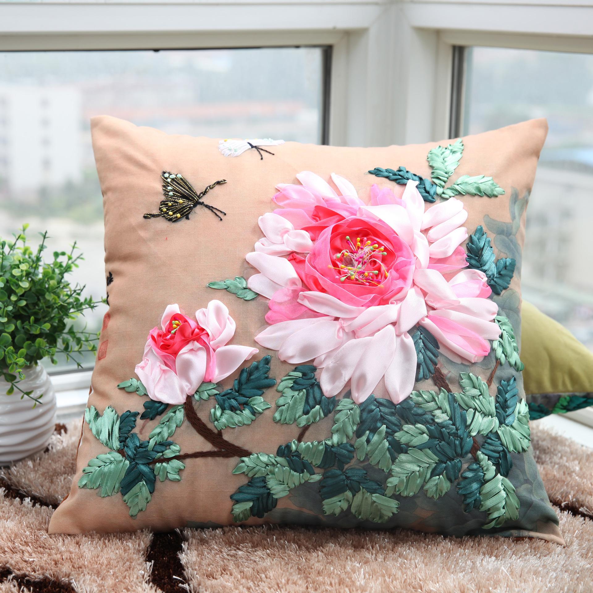 декоративные подушки на диван своими руками