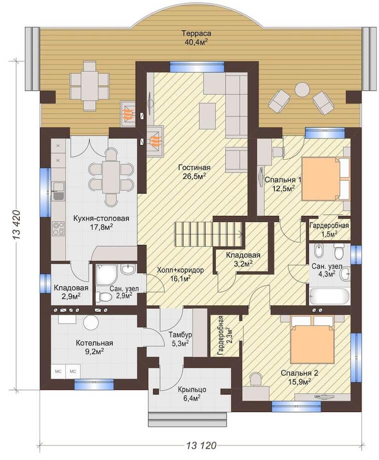 Проекты одноэтажных домов с четырьмя спальнями фото. проекты одноэтажных домов с 4 спальнями