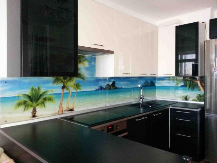 Фартук для кухни из стекла (160 реальных фото) - оригинальный дизайн и новинки