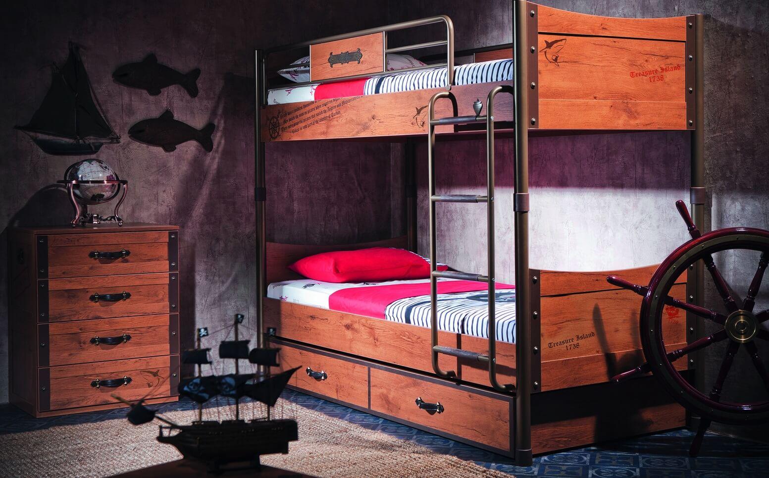 Двухъярусная кровать с рабочей зоной: двухэтажная модель с письменным столом внизу - с рабочим местом, модели для подростков