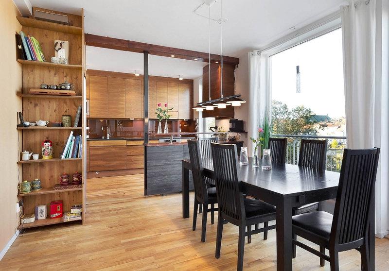 Мини-кухня для студии: со встроенной техникой, особенности, требования, дизайнерские решения, советы и рекомендации, фото.