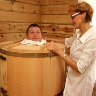 готовая баня бочка