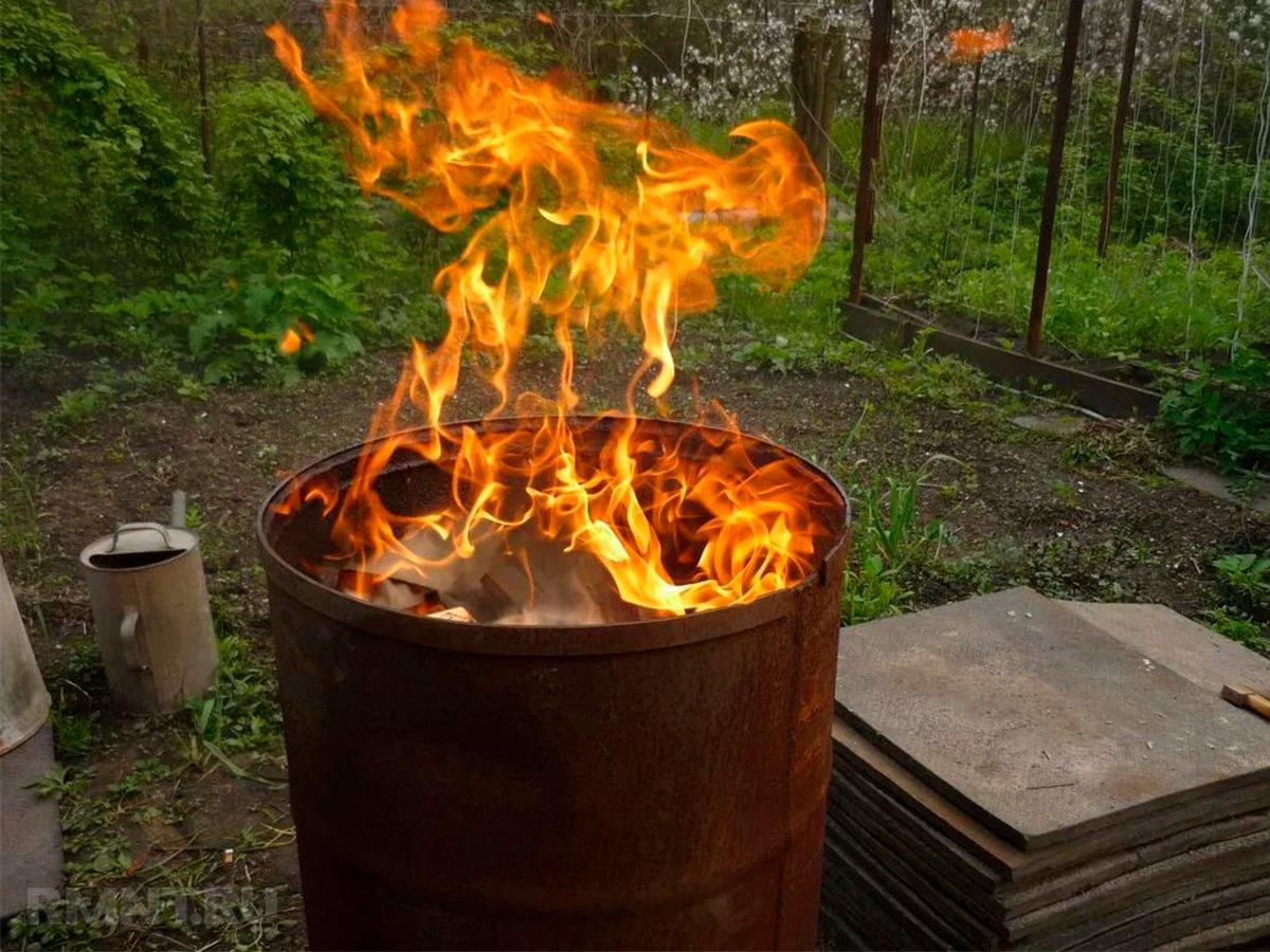 сжигание мусора в бочке на даче закон