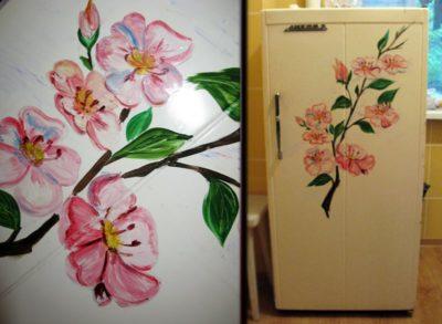 Какой краской покрасить холодильник в домашних условиях. как покрасить старый холодильник своими руками