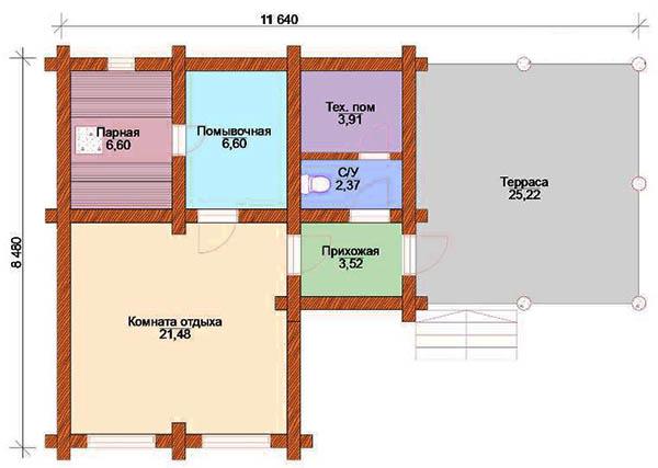 Проекты бань с террасой и барбекю (28 фото) — зона отдыха 3 в 1