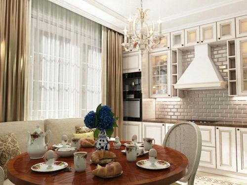 6 идей для кухни в классическом стиле в светлых тонах (109 реальных фото)