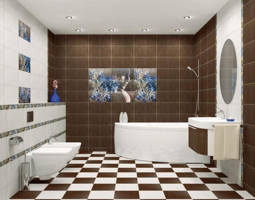 Варианты раскладки плитки в ванной (54 фото): примеры сочетания раскладки, сколько нужно для выкладки