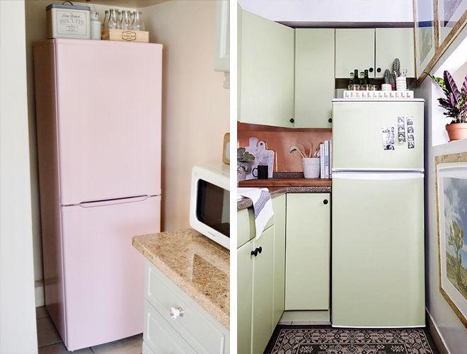 Как и чем можно в домашних условиях покрасить холодильник своими руками
