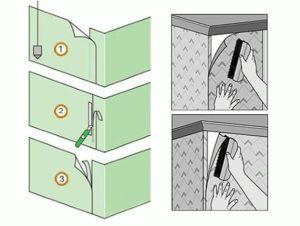 Как клеить обои в углах комнаты: внешних и внутренних (фото, видео)