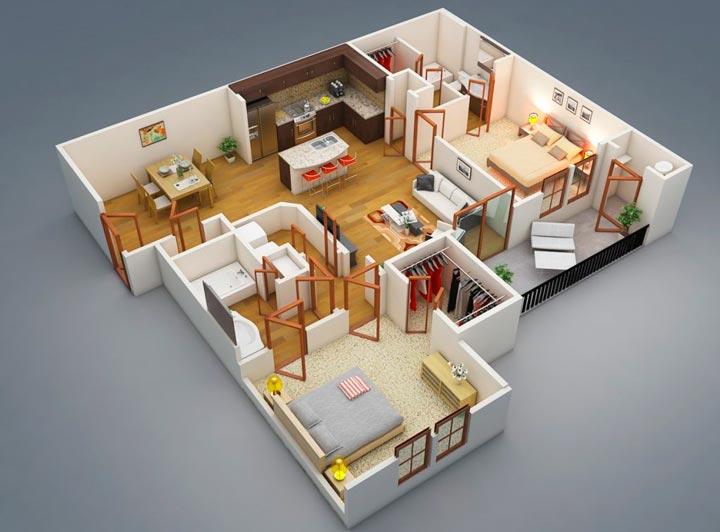 как сделать план квартиры