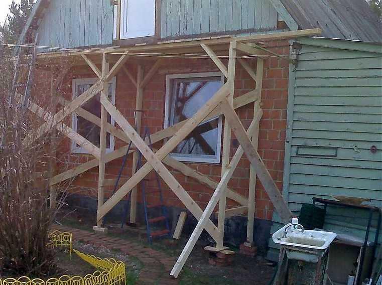 Как сделать строительные леса своими руками: простые конструкции