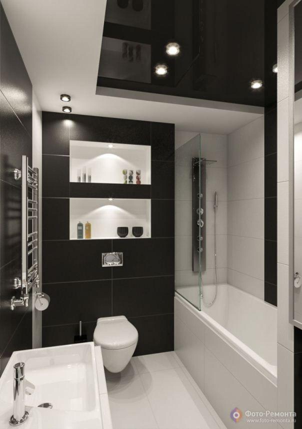 комната в черно белом стиле