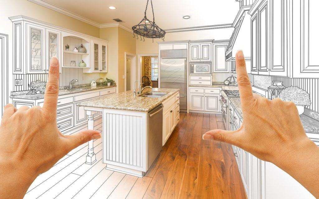 планировка кухни чертеж