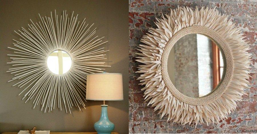 Рама для зеркала своими руками: оригинальные идеи декора, как сделать