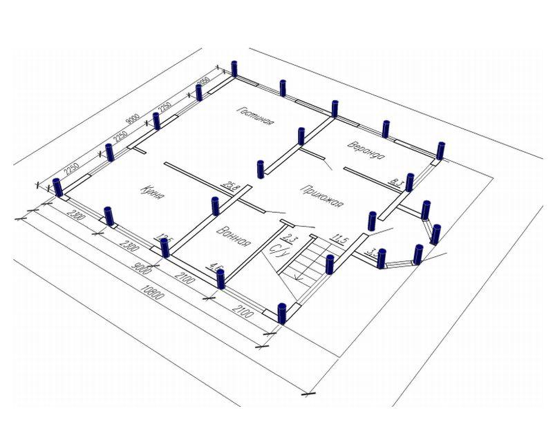 Калькулятор столбы-онлайн v.1.0 - расчет столбчатого фундамента, ростверка. расчет свайного фундамента.