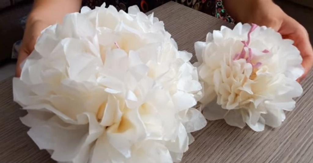 мастер класс цветы из гофрированной бумаги