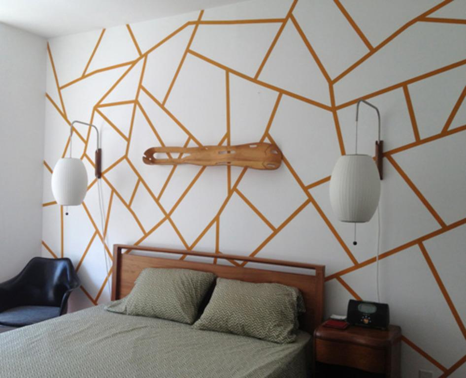 геометрия на стенах в интерьере