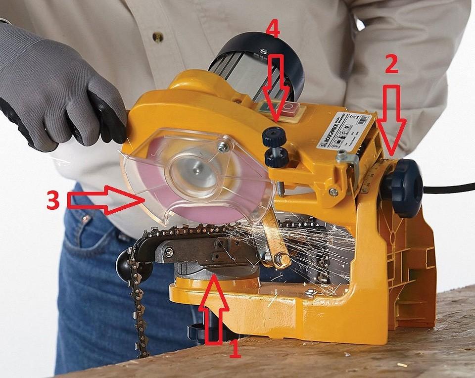 Заточка цепи бензопилы набором напильников, болгаркой, на электрическом станке и с применением специальной системы
