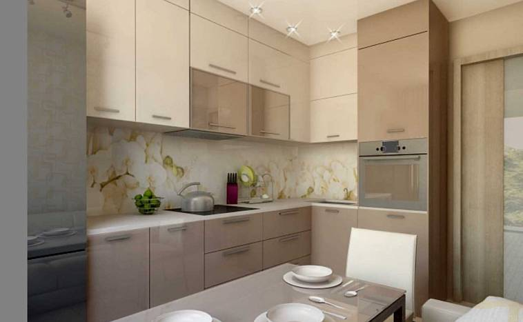 Дизайн кухни, совмещенной с балконом: фото, идеи планировки и оформления интерьера