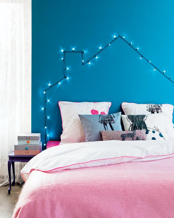 25 волшебных идей декорирования комнаты гирляндой на новый год