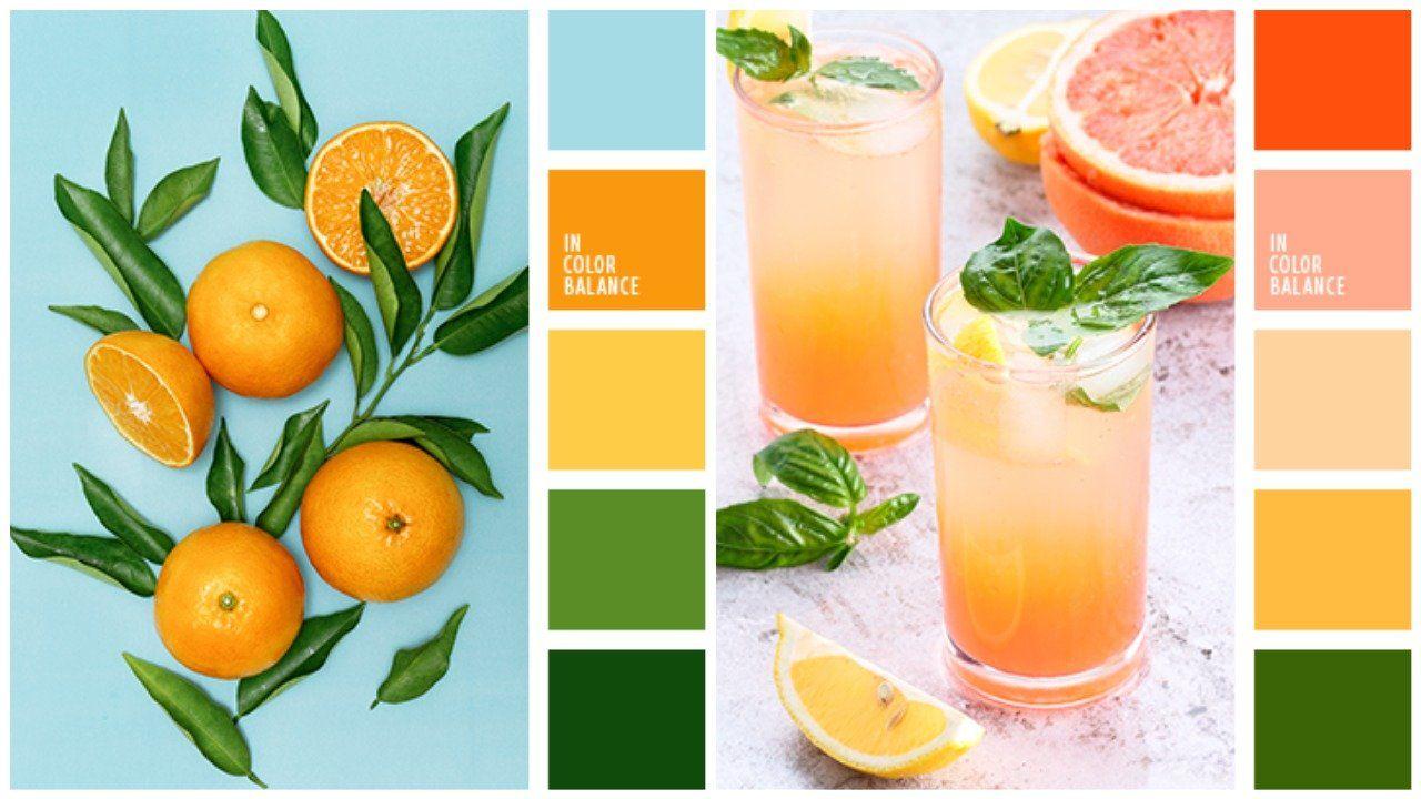 сочетание цветов с оранжевым