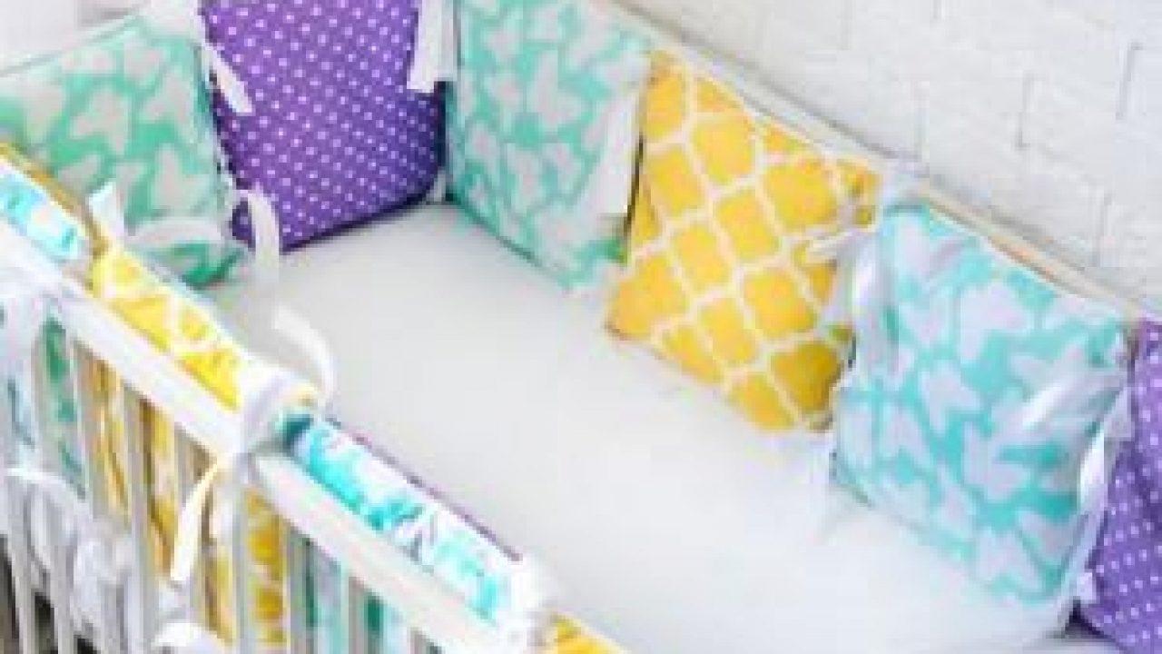 Мягкие бортики/бампер в детскую кроватку: выбор ткани, набивки, способа пошива, выкройки, изготовление
