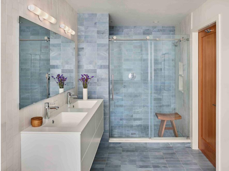 Плитка для маленькой ванной комнаты - 80 фото лучшего дизайна!