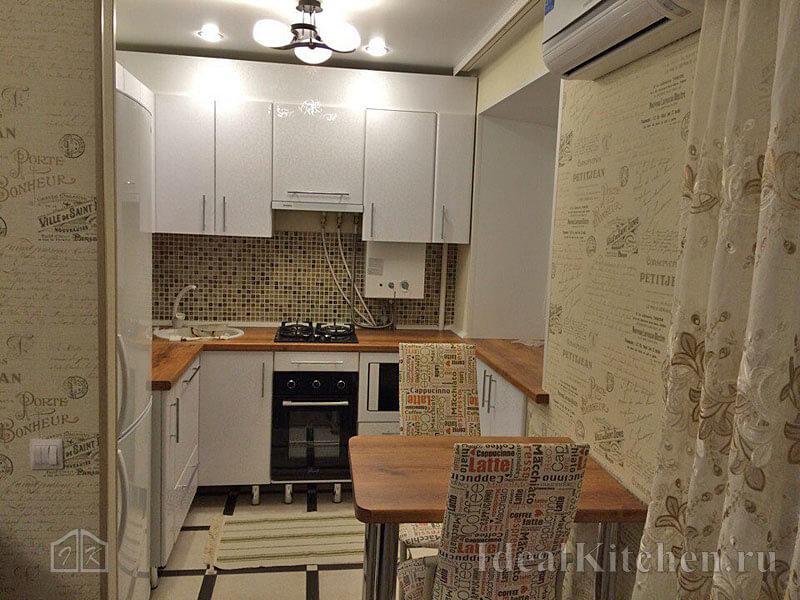 Обои в кухонном интерьере - 84 фото примера