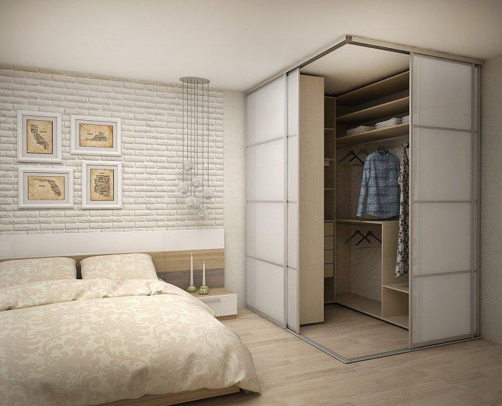 встроенные шкафы в спальню фото