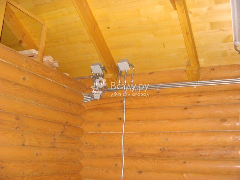 Воздушная проводка кабеля на даче своими руками