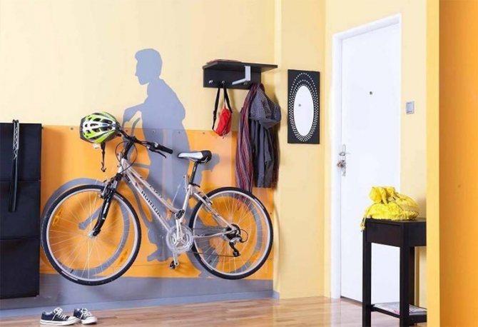 Хранение велосипеда в квартире: 4 вида крепления