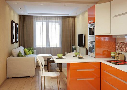 Дизайн кухни-гостиной 16 кв. м (64 фото): планировка совмещенных комнат размером 16 квадратов