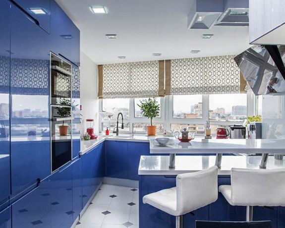 кухня студия шторы фото
