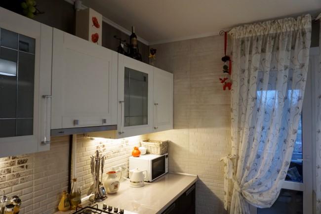 тюль на кухню длинная