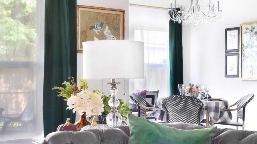 шторы в гостиную оливкового цвета