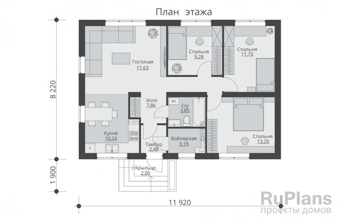 Комфортная планировка дома 6 на 6: проекты с чертажами +75 фото