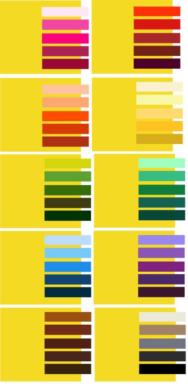 карта сочетания цветов