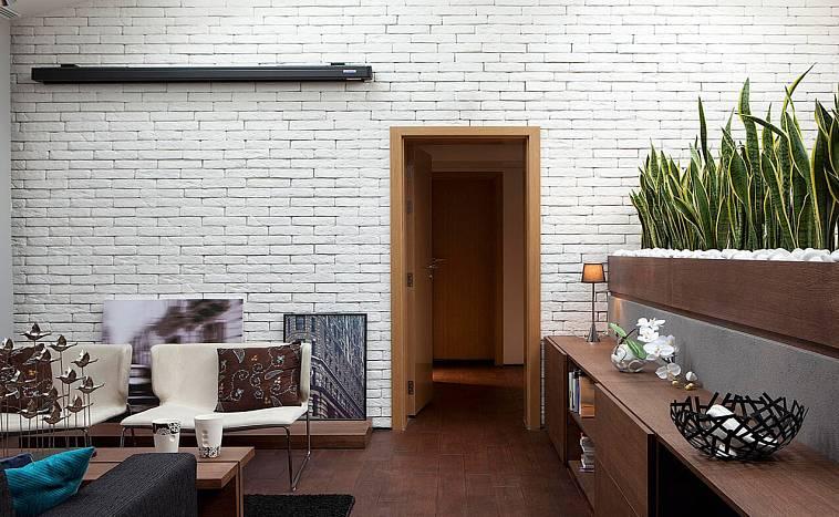 Белая кирпичная стена в интерьере: как сделать своими руками